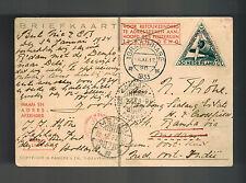 1933 Pelikan Netherlands Indies KLM Pander Postjager postcard Cover to Medan