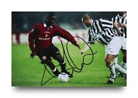 Andy Cole Signed 6x4 Photo Manchester United Genuine Autograph Memorabilia + COA