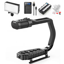 SEVENOAK MicRig Video Handle Grip + Sensor Control LED Video Light kit