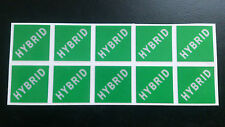 HYBRID CAR VEHICLE REFLECTIVE NUMBER PLATE STICKERS LABELS X 10 PETROL ELECTRIC