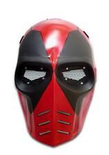 "Army Of Two ""Deadpool"" Custom Fiberglass Airsoft BB Gun Paintball Full Face Mask"