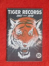 1949 DETROIT TIGERS FEATS RECORD INFO GUIDE 52 PAGES