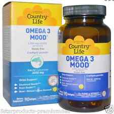 NEW COUNTRY LIFE OMEGA 3 MOOD GLUTEN FREE DIETARY SUPPLEMENT EPA FISH OIL CARE