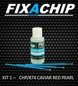 LAND ROVER CAR TOUCH UP PAINT - CODE CHP/874 - CAVIAR  RED PEARL (KIT 1)