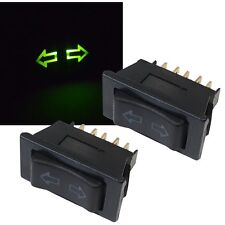 2 Stück KFZ Fensterheber-Schalter 12V 10A Led beleuchtet Taster 5-Pin Universal