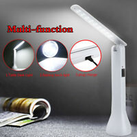 2in1 Multifunction Portable Foldable LED Flashlight Table Desk Light Lamp Torch