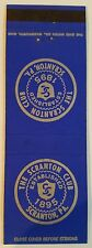 Rare Matchbook Cover - THE SCRANTON CLUB - SCRANTON PA - LOT OF 2 - See Pics