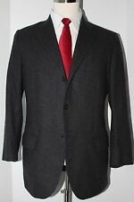 Polo Ralph Lauren Solid Gray 3 Button Side Vented Wool Cashmere Suit 40 S 32 28