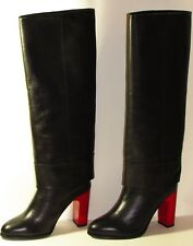 Opening Ceremony Stovepipe Black Leather Knee High Boots Sz Eu 38 / Us 8, $695