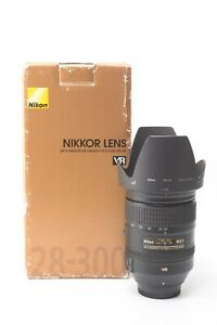 Nikon Nikkor AF-S 28-300mm f/3.5-5.6 G ED VR Lens - Boxed with Hood and Caps