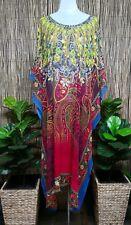 Plus Size Long Floral Sheer Embellished Kaftan Digital Printed Size 20-22-24-26