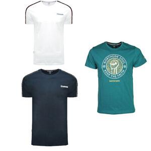 Men's Crew Neck Short Sleeve Summer T-shirt Logo Casual Cotton Tee Top Lambretta