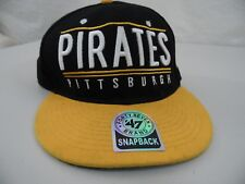 PITTSBURGH PIRATES One Size Fits All Snap Back Flat Brim Visor Baseball Cap Hat