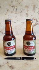 """Cervezas El Leon"" 1  Boligrafo y DOS Antiguos botellines San Sebastian Gipuzkoa"