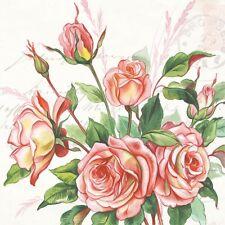 2 Serviettes en papier Fleur Rose Rosier Decoupage Paper Napkins Flower Rosebush