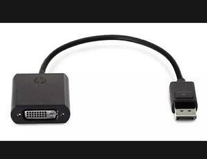 New Genuine HP DisplayPort to DVI SL Adapter F7W96AA