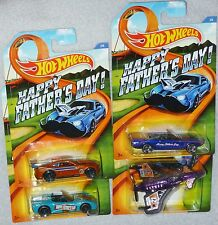HOT WHEELS Fathers Day Set of 4 '11 Camaro Corvette C6 '63 Mustang Poison Arrow