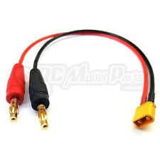 XT30 to Banana Plug 4mm Battery LIPO Charger Cable Charge Lead Pigtail UK Seller