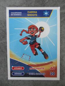 Carte championne de Handball Carina SHOOTS - Pitch - Le tour du monde des sports