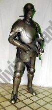 Antique Medieval Suit of Armor 17thCentury Combat Full Body Armour Without Sword
