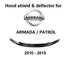 Air Hood Shield Bug Guard Protect Deflector for Nissan Patrol Armada 2010 - 2020
