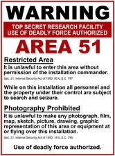 Advertencia área 51 Retro Vintage Arte Placa de pared de metal cartel de publicidad Cueva de hombre
