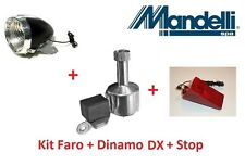 Kit Faro Nero + Dinamo DX in Alluminio + Stop per bici 26-28 R Viaggio bacchetta