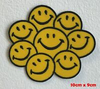 Happy Face Smiley Rainbow Emoji Iron Sew on Embroidered Patch #1548