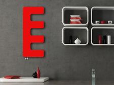 E-type Designer Heated Towel Rail Radiator Red 400mm wide 1000mm high Modern