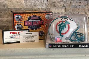 Bob Griese Autographed Mini Helmet Tristar Hidden Treasures Tristar Certified