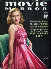 1940 MARCH MOVIE MIRROR MAGAZINE - PRISCILLA LANE COVER - VG/XF