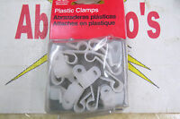 Gardner Bender Cable Clamps PPC-1525, 1/4'', pkg of 18, white