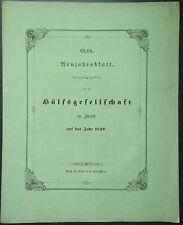 Hülfsgesellschaft Zürich 49. Neujahrsblatt 1849 Schweiz Suisse Waldenser 2.Teil