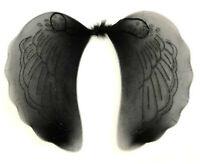Black Glitter Angel Wings Halloween Fancy Dress Costume Hen Night Party