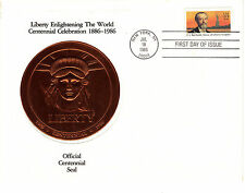 #2147 Statue of Liberty Relic FDC Copper Flown in Space