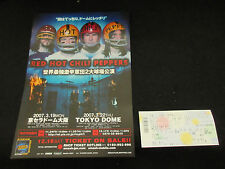 Red Hot Chili Peppers Japan Tour 2007 Promo Flyer w Ticket Stub John Fruciante