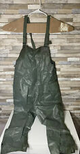 Vintage Military Overall Wet Weather Rain Pants Vietnam Era Prepper Hunting
