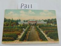 VINTAGE POSTED POSTCARD STAMP 1908 SHAW'S GARDEN ST LOUIS MO. DETROIT PUBLISHING