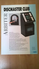 Arbiter Discmaster Club Jukebox Sales Brochure / Flyer / Pamphlet