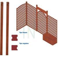 palo paletto angolare in legno per pannelli grigliati cm 210 giardino recinto
