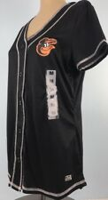 Baltimore Orioles Shirt Top Med Jersey Genuine Merchandise Polyester Black Ss