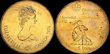 1976 CANADA SILVER $5 DOLLARS MONTREAL OLYMPICS COLOR TONED HIGH GRADE PROOF