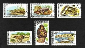 Togo 1977 Endangered Wildlife complete set of 6 values (SG 1216-1221) used