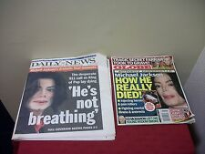 Lot 2 MICHAEL JACKSON 1 NY Daily News Newspaper 1 Globe Death Memorial B1D1
