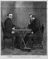 CHESS CHAMPIONSHIP MATCH ZUKERTORT vs STEINITZ 1886 CHESS HISTORY QUEEN PAWN