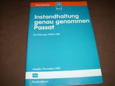 Werkstatthandbuch VW Passat B 2 Instandhaltung ,86 - 88