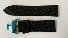 Stingray skin watch strap 24mm with deployant buckle