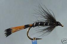 10x Mouche de peche Noyée Pennel Noire H12 fliegen fly black