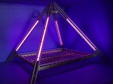 NEONPYRAMIDE Pyramidenbett Himmelbett Neonbett Metallbett alpha 180x200