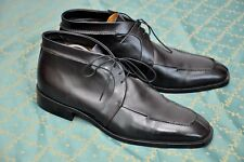SAKS FIFTH AVENUE mens Black Leather Laced Boots shoes size 10,UK 10/US 11/EU44